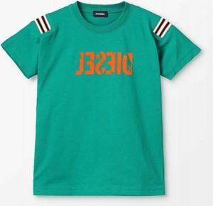 Turkusowa koszulka dziecięca Diesel