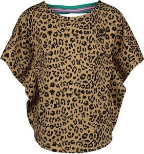 Brązowa bluzka dziecięca Vingino z bawełny z krótkim rękawem