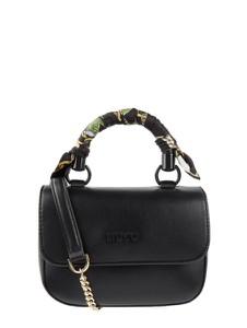 Czarna torebka Liu-Jo Jeans ze skóry w młodzieżowym stylu