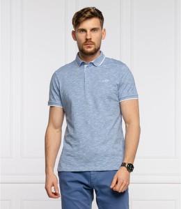 Niebieska koszulka polo Joop! z krótkim rękawem