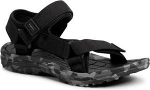 Czarne buty dziecięce letnie Sprandi dla chłopców na rzepy