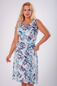 Sukienka Ptakmoda.com z okrągłym dekoltem z odkrytymi ramionami