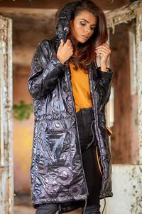 Kurtka Awama z tkaniny długa w stylu casual