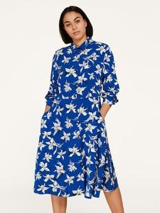 Sukienka Persona by Marina Rinaldi z długim rękawem w stylu casual koszulowa