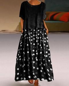Czarna sukienka Kendallme z okrągłym dekoltem trapezowa