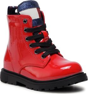 Czerwone buty dziecięce zimowe Tommy Hilfiger