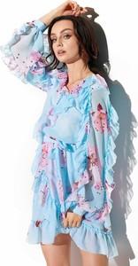Sukienka Lemoniade z długim rękawem z jedwabiu w stylu casual