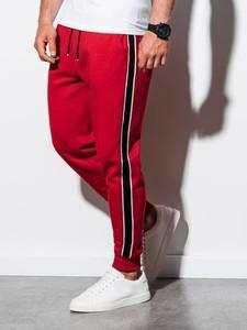Czerwone spodnie sportowe Ombre