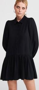 Czarna sukienka Reserved oversize w stylu casual mini