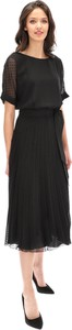 Czarna sukienka POTIS & VERSO z okrągłym dekoltem