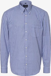 Niebieska koszula Mc Earl z bawełny z kołnierzykiem button down z długim rękawem