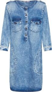 Niebieska sukienka LTB w stylu casual