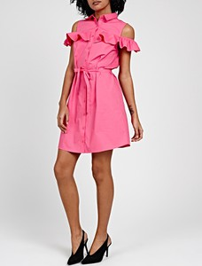 Różowa sukienka Gate mini z bawełny