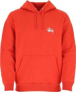 Czerwona bluza Stussy z bawełny
