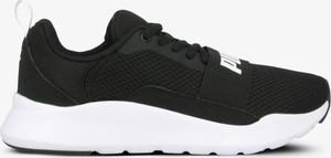 Czarne buty sportowe Puma na platformie sznurowane