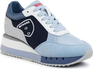 Niebieskie buty sportowe Blauer sznurowane