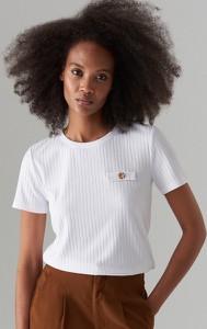 T-shirt Mohito w stylu casual z okrągłym dekoltem