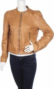 Brązowa kurtka Maze ze skóry w stylu casual