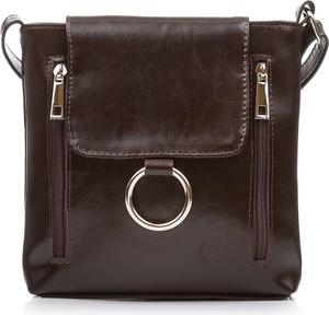 924e43b7b6a0d torebka listonoszka skórzana brązowa - stylowo i modnie z Allani
