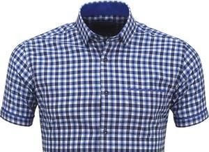 Niebieska koszula Megafinest w stylu casual z bawełny