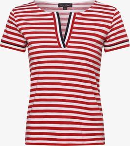 Czerwony t-shirt Franco Callegari z bawełny