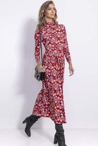Sukienka Fobya maxi prosta w stylu casual