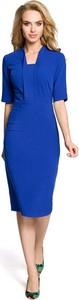 Niebieska sukienka MOE midi