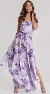 Fioletowa sukienka Renee maxi w stylu boho