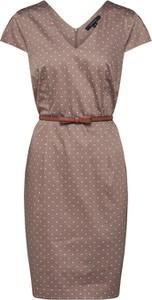 Sukienka comma, z krótkim rękawem z bawełny mini