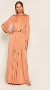 Sukienka Elisabetta Franchi maxi z długim rękawem