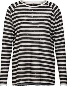 Czarna bluzka Only z długim rękawem z okrągłym dekoltem
