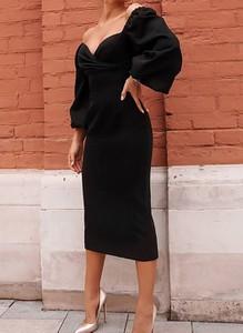 Czarna sukienka Cikelly midi ołówkowa