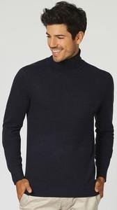 Czarny sweter William De Faye z kaszmiru