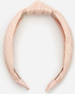 Reserved - Opaska do włosów z węzłem - Kremowy