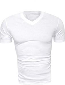 T-shirt Risardi w stylu casual z krótkim rękawem
