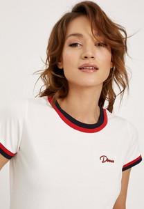 T-shirt Diverse z bawełny w stylu casual z krótkim rękawem