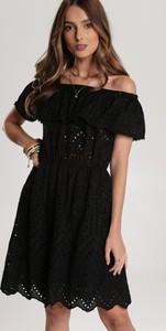 Czarna sukienka Renee z krótkim rękawem