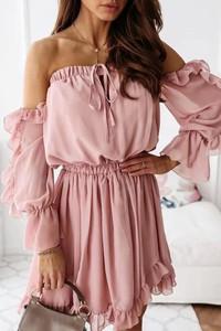 Sukienka IVET z długim rękawem mini w stylu casual