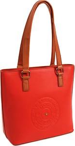Czerwona torebka Doca na ramię duża