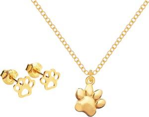 Perlove Złoty Komplet z Motywem Łapki 1