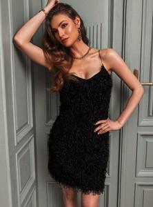 Czarna sukienka SELFIEROOM na ramiączkach