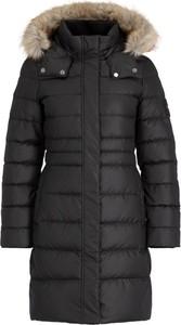 Czarny płaszcz Calvin Klein w stylu casual