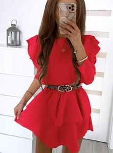 Sukienka Pakuten w stylu casual z długim rękawem mini