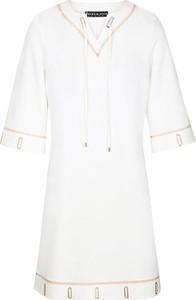 Sukienka BLEU D'AZUR mini z krótkim rękawem