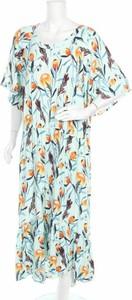 Sukienka Ava & Viv z długim rękawem z dekoltem w kształcie litery v maxi
