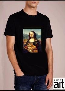 Czarny t-shirt Life Is Art z krótkim rękawem