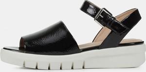 Czarne sandały Geox w stylu casual