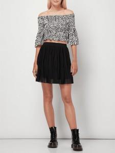 Czarna spódnica NA-KD mini z szyfonu w stylu casual