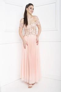 Różowa sukienka Marcelini hiszpanka na ramiączkach