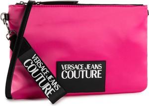 Różowa torebka Versace Jeans średnia lakierowana